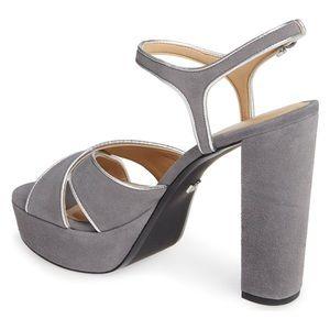 Michael Kors Gray Ankle Strap Platform 10